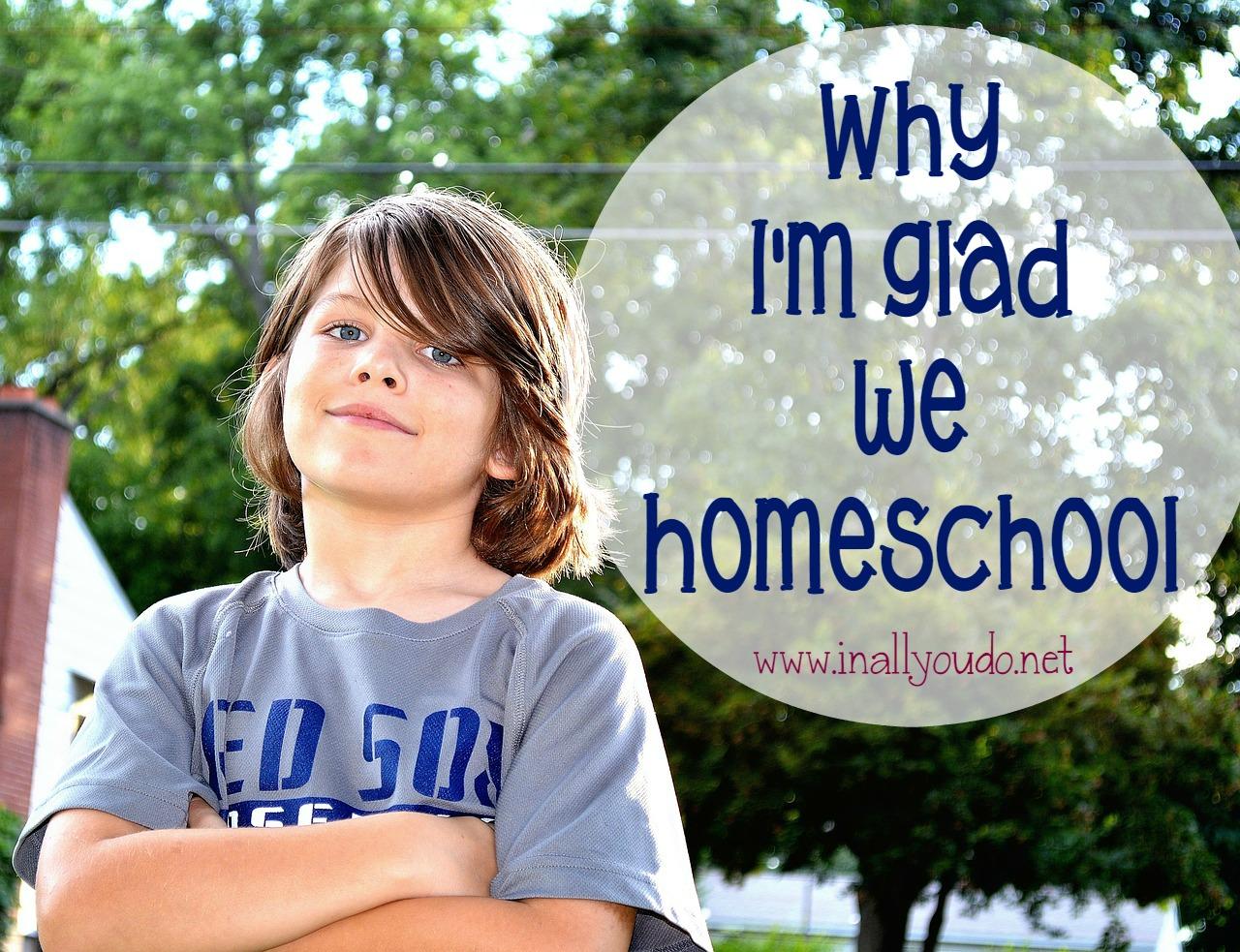 Homeschool Series: Why I'm Glad I Homeschool