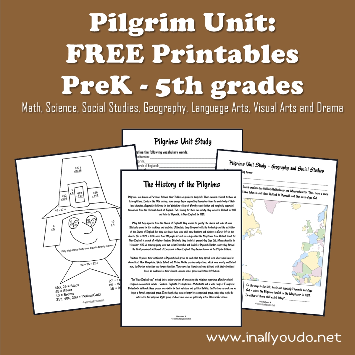 pilgrim unit free printables in all you do. Black Bedroom Furniture Sets. Home Design Ideas