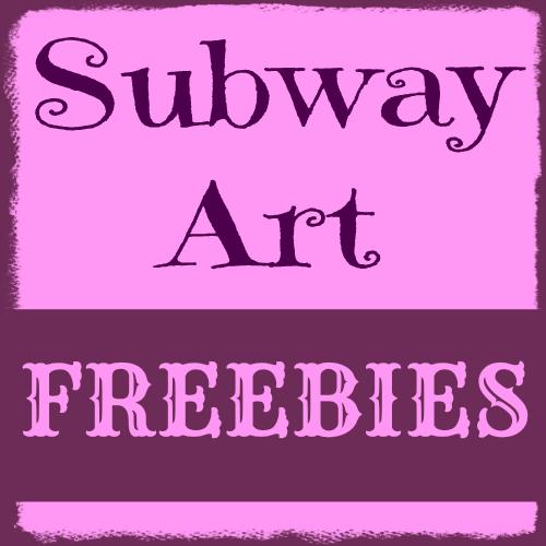 Subway Art Freebies button
