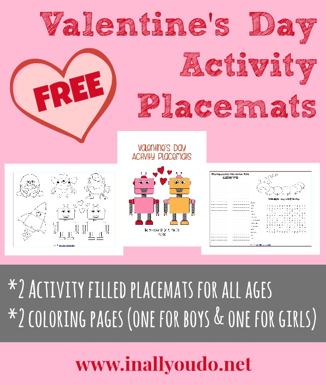Valentine\'s Day Activity Placemats