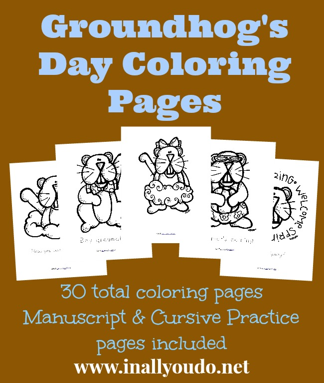 these adorable groundhogs day coloring pages are the perfect addition to your february 2nd day or - Groundhog Coloring Page