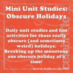 Jan 25th – OPPOSITE DAY Mini Unit
