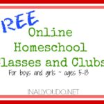FREE Online Homeschool Classes and Clubs