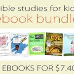 Kids Bible Study ebook Bundle ~ $7.40