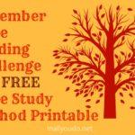 November Bible Reading Challenge & FREE Bible Study Method printable ~ Join me!!