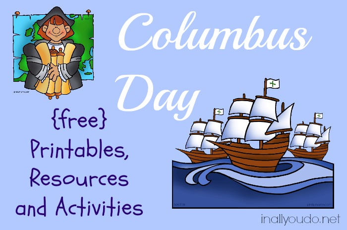 free Columbus Day Printables and Resources