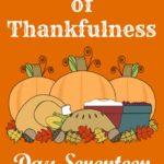 24 Days of Thankfulness ~ Day 17