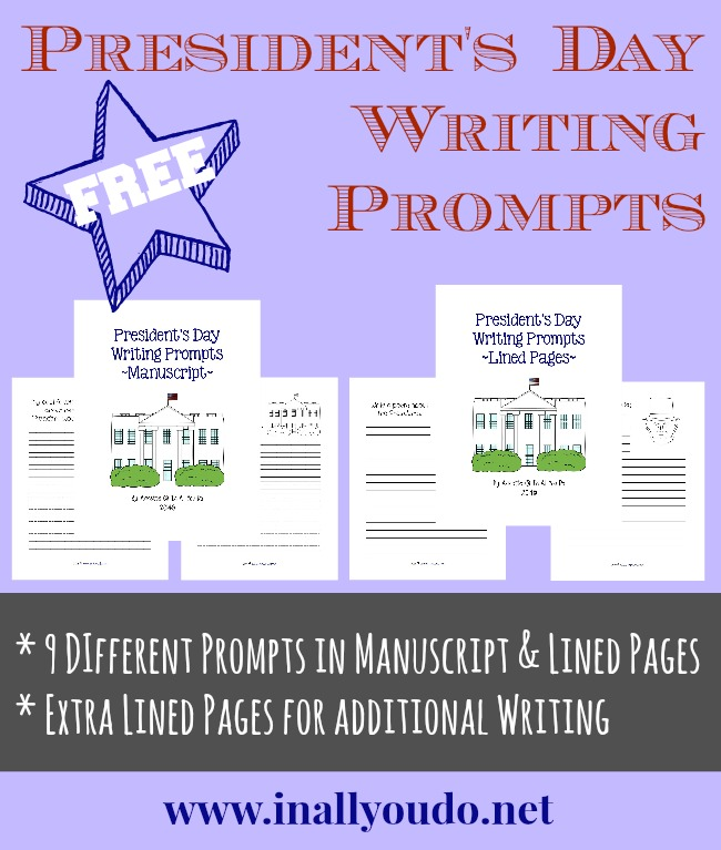 {free} President's Day Writing Prompts