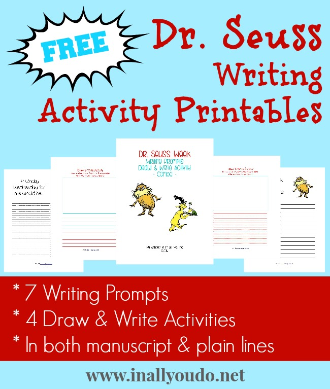 FREE Dr Seuss Writing Activity Printables