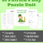 St Patricks Day Puzzle Unit Collage