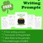 St. Patrick's Day Writing Prompts {freebie}