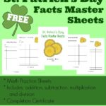 NEW St. Patrick's Day Math Facts Master Sheets {free}