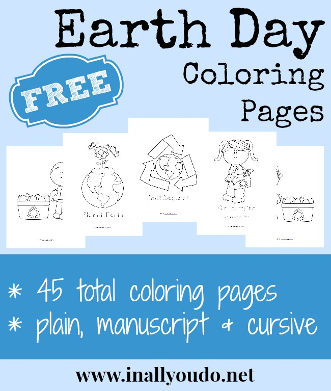 {free} Earth Day Coloring Pages