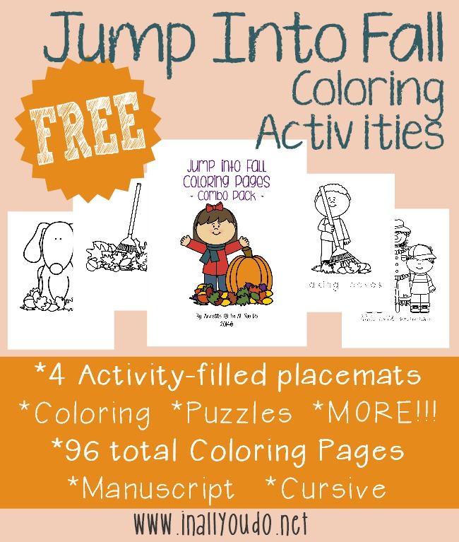 FREE Jump Into Fall Coloring Activities