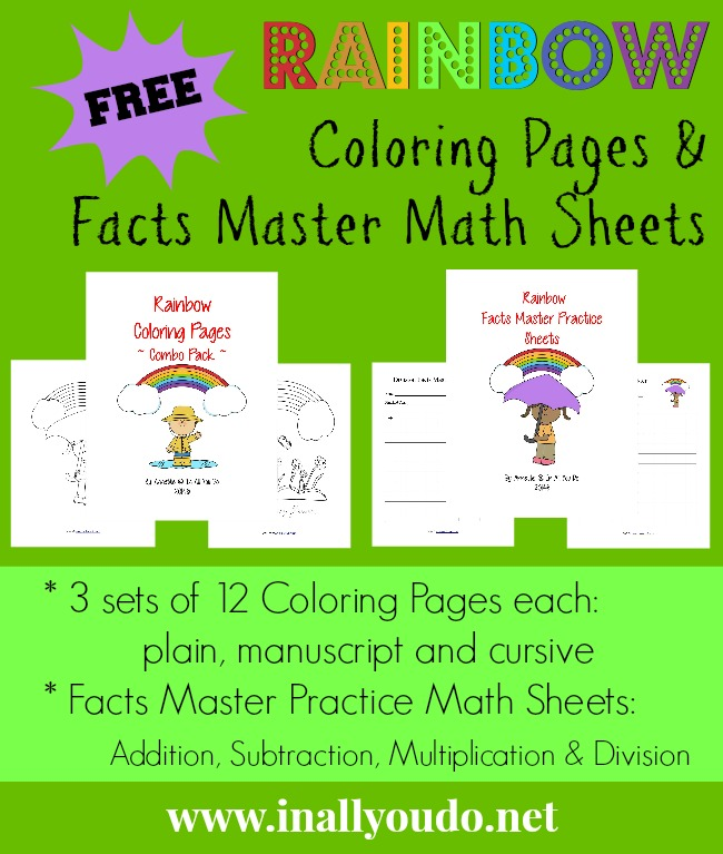 FREE Rainbow Coloring Pages & Facts Master Math Sheets