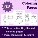 {free} Resurrection Day Coloring Pages