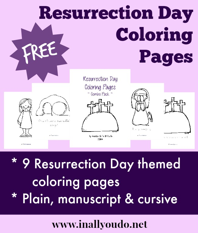 FREE Resurrection Day Coloring Pages