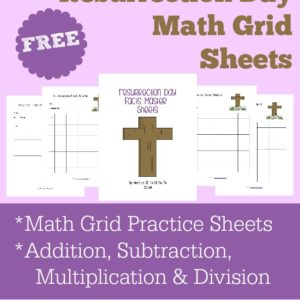 Facts Master Math Grids are a fun and easy way to help kids work on andmaster their math facts. These grids can be used for addition, subtraction, multiplication and division. They have a Resurrection Day theme, so you can include them with all my other Resurrection Day printables for a complete unit. :: www.inallyoudo.net