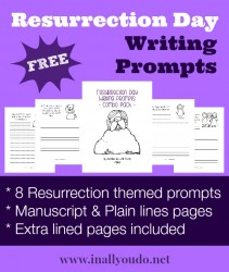 Resurrection Day Writing Prompts {freebie}