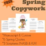 Spring Copywork: Quotes & Scripture  {freebie}