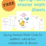 {free} Spring Facts Master Math Sheets