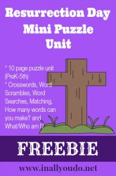 Resurrection Day Mini Puzzle Unit {free}