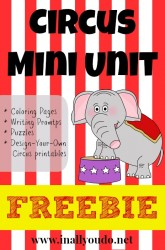 FREE Circus Mini Unit {Facebook Fans Exclusive}