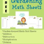 Gardening Math Sheets {freebie}