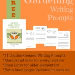 Gardening Writing Prompts {free}