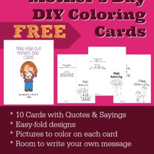 These Mother's Day cards are sure to be a big hit this year! Simply print, color and deliver! :: www.inallyoudo.net