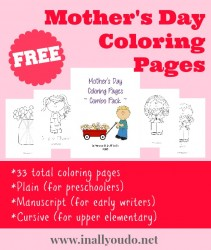 FREEBIE: Mother's Day Coloring Pages