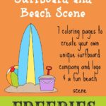 Create-Your-Own Surfboard {free printables}