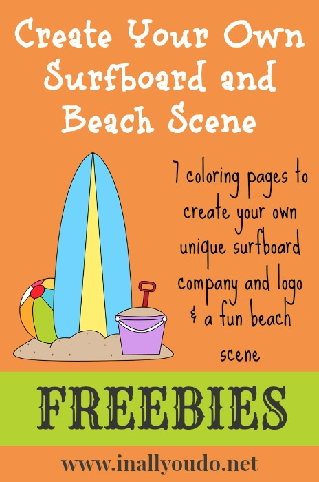 create your own surfboard free printables