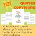 FREE Beach Fun Copywork Printables