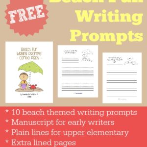 FREE Beach Fun Writing Prompts