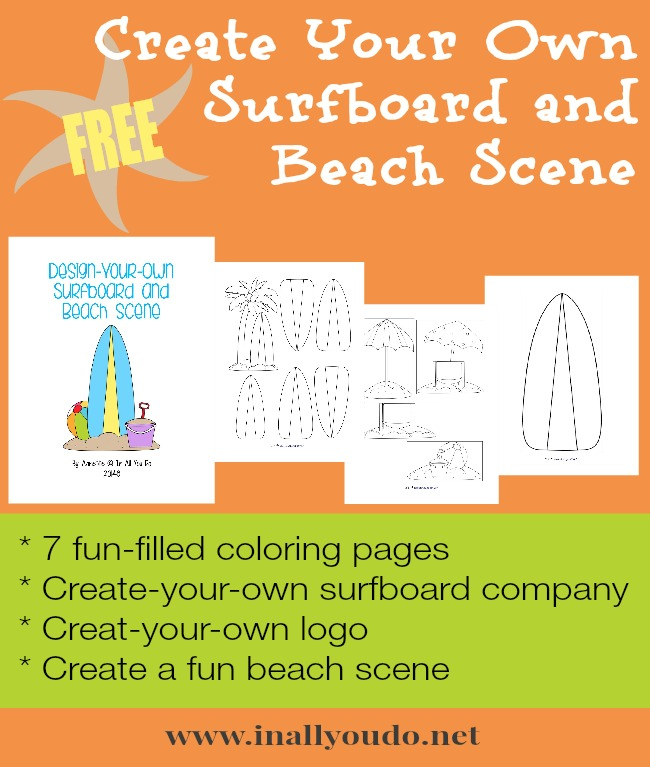 Create your own surfboard free printables for Design your own building free