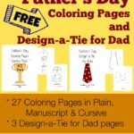 Design-a-tie for Dad & Coloring Pages