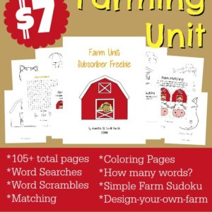 Do you live on a farm? Do your kids love farming? Check out this HUGE Farm & Animals Pack full of activities for PreK-5th grade!! {105 pages} :: www.inallyoudo.net