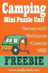 Camping Mini Puzzle Unit {free printables}