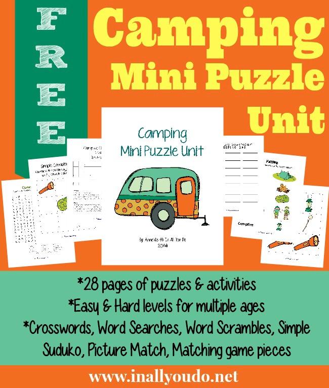 FREE Camping Mini Puzzle Unit