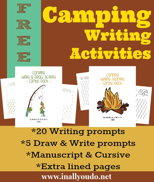 FREE Camping Writing Activities