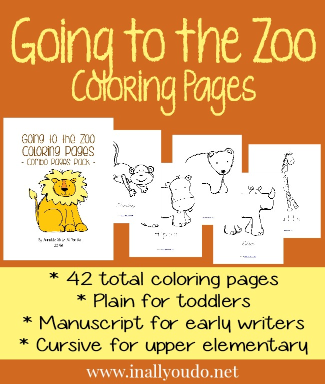 Going to the Zoo Coloring Pages