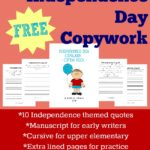 {free} Independence Day Copywork