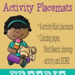 Summer: Ice Cream Activity Placemats {freebie}