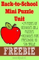 Back-to-School Mini Puzzle Unit {freebie}