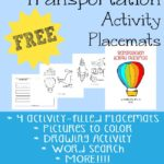 Transportation Activity Placemats {freebie}