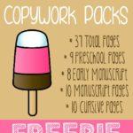 Ice Cream Copywork {free printables}
