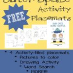 Outer Space Activity Placemats {freebie}