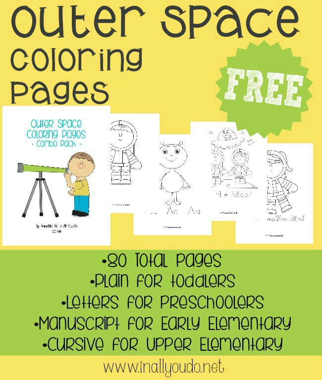 {free} Outer Space Coloring Pages - In All You Do