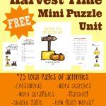 {free} Harvest Time Mini Puzzle Unit (25 pages)